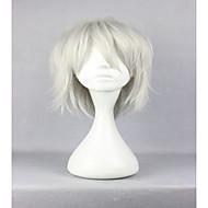 お買い得  -人工毛ウィッグ / コスチュームウィッグ カール 合成 白 かつら 女性用 キャップレス シルバー