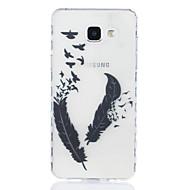 Недорогие Чехлы и кейсы для Galaxy A5(2016)-Кейс для Назначение SSamsung Galaxy A5(2016) A3(2016) Прозрачный С узором Кейс на заднюю панель  Перья Мягкий ТПУ для A5(2016) A3(2016)