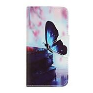 Назначение Чехлы панели Кошелек Бумажник для карт со стендом С узором Чехол Кейс для Бабочка Твердый Искусственная кожа для Samsung J5