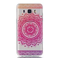 voordelige Galaxy J1(2016) Hoesjes / covers-hoesje Voor Samsung Galaxy J7 (2016) J5 (2016) Ultradun Transparant Patroon Achterkant Bloem Zacht TPU voor J7 (2016) J5 (2016) J5 J3