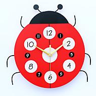 コンテンポラリー ハウス型 壁時計,その他 メタル / ウッド 33*32cm 屋内 クロック