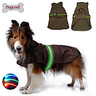 Dog Rain Coat Vest Dog Clothes Nylon Winter Spring/Fall LED Waterproof Solid Black Brown Blue Costume For Pets