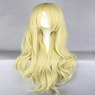 Kvinder Syntetiske parykker Lokkløs Bølgete Blond Cosplay-parykk Halloween parykk Karneval Parykk costume Parykker
