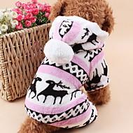 halpa -Kissa Koira Hupparit Haalarit Yöpuvut Koiran vaatteet Poro Harmaa Ruskea Sininen Pinkki Polar Fleece Asu Lemmikit Miesten Naisten Sievä