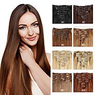 Недорогие Искусственные накладки и пряди-Расширения человеческих волос Человеческие волосы 70-120 14-24 Наращивание волос