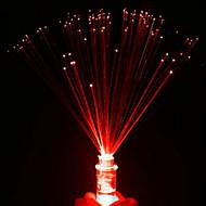 Işıklı fiber küçük gece ışığı renkli mumlar rastgele renk gül açtı