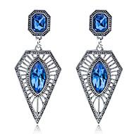 저렴한 -여성용 다이아몬드 스탈링 실버 드랍 귀걸이 - 패션 블루 삼각형 귀걸이 제품 파티 / 일상 / 캐쥬얼