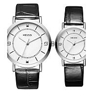 Недорогие Фирменные часы-KEZZI Для пары Наручные часы Кварцевый Черный / Белый / Серебристый металл Горячая распродажа Cool / Аналоговый На каждый день Мода - Белый Черный Кофейный