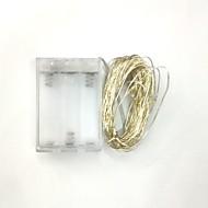 olcso -5m 50led 3aa akkumulátoros vízálló dekoráció vezetett réz drót fények string a fesztivál esküvő