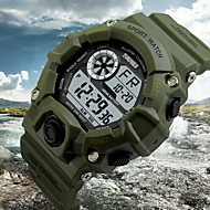 Недорогие Фирменные часы-SKMEI Муж. Наручные часы Будильник / Календарь / Секундомер Pезина Группа Кулоны Черный / Зеленый