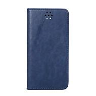 Недорогие Чехлы и кейсы для Galaxy A7(2016)-Кейс для Назначение SSamsung Galaxy A5(2016) A3(2016) Бумажник для карт со стендом Флип Магнитный Чехол Сплошной цвет Твердый Натуральная