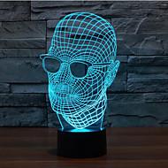 abordables Nouveautés Lampes LED-1 pièce Eclairage de Noël Lumière décorative Lampes de nuit A détecteur Intensité Réglable Imperméable Couleurs changeantes LED