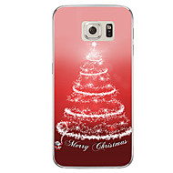 Voor samsung galaxy s7 s7 rand lichtgevende kerstboom tpu soft case cover s6 edge plus