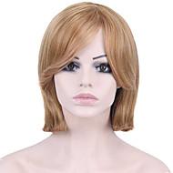 女性 人工毛ウィッグ キャップレス ストレート ミディアムブラウン/ストロベリーブロンド ナチュラルウィッグ コスチュームウィッグ