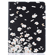 For Samsung Galaxy Tab T815 T715 T580 T560 T550 T377 T280 T350 PU Leather Material Small White Flowers Embossed Pattern Plate Sets