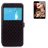 Недорогие Чехлы и кейсы для Galaxy S7 Edge-Кейс для Назначение SSamsung Galaxy S7 edge S7 Бумажник для карт Кошелек со стендом с окошком Флип Чехол Сплошной цвет Твердый
