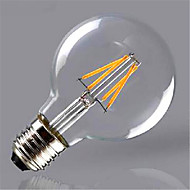 cheap LED Filament Bulbs-1pc 300-350 lm E26/E27 LED Filament Bulbs G80 4 leds COB Decorative Warm White Yellow AC 220-240V
