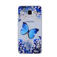 お買い得  携帯電話ケース-ケース 用途 Samsung Galaxy A5(2016) A3(2016) パターン バックカバー バタフライ ソフト TPU のために A8(2016) A5(2016) A3(2016) A8 A7 A5 A3
