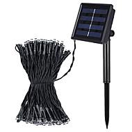 jiawen 8 모드 10m 100 LED는 백색 또는 온난 한 백색 야외 방수 태양 문자열 조명을 주도 냉각