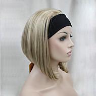 お買い得  -人工毛ウィッグ ストレート ボブスタイル・ヘアカット 密度 キャップレス 女性用 カーニバルウィッグ ハロウィンウィッグ ショート 合成