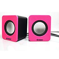 preiswerte Lautsprecher-Mini Tragbar Stereo Super Bass 3.5 mm AUX USB Bücherregal Computer-Lautsprecher Weiß Dunkelblau Dunkelrosa