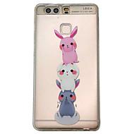 Для huawei p9 v8 чехол для корпуса три маленьких кролика узор выбитый скраб tpu материал чехол для телефона