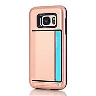 Недорогие Чехлы и кейсы для Galaxy S8-Кейс для Назначение SSamsung Galaxy S8 Plus S8 Бумажник для карт Кейс на заднюю панель Сплошной цвет Твердый ПК для S8 Plus S8 S7 edge S7