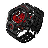Недорогие Мужские часы-SANDA Муж. Наручные часы Смарт Часы Армейские часы Модные часы Спортивные часы Цифровой Японский кварц Секундомер Защита от влаги LED