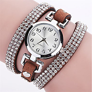 voordelige Bohémien horloges-Dames Armbandhorloge Gesimuleerd Diamant Horloge Modieus horloge Polshorloge Kwarts imitatie Diamond Punk Kleurrijk PU Band Amulet