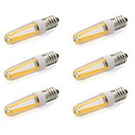 4W E14 LED Bi-pin Işıklar T 4 COB 380 lm Sıcak Beyaz / Serin Beyaz AC 220-240 V 6 parça