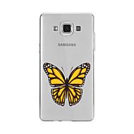 Кейс для Назначение SSamsung Galaxy A5(2016) A3(2016) С узором Задняя крышка Бабочка Мягкий TPU для A9(2016) A7(2016) A5(2016) A3(2016)