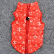 abordables Disfraces de Navidad para mascotas-Perro Abrigos Chaleco Ropa para Perro Copo Naranja Terileno Disfraz Para mascotas Hombre Mujer Mantiene abrigado Navidad