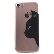 Недорогие Кейсы для iPhone 8 Plus-Кейс для Назначение Apple iPhone X iPhone 8 Кейс для iPhone 5 iPhone 6 iPhone 7 Прозрачный С узором Кейс на заднюю панель Кот Мягкий ТПУ