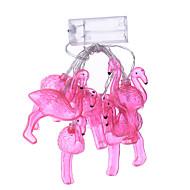 ünnep led csík flamingó 10 lámpa golyó / set vezetett karakterlánc lakodalom tündér fények karácsonyi dekoráció