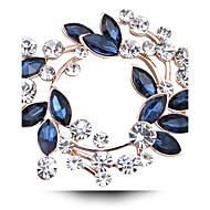 ieftine Bijuterii Florale-Pentru femei Cristal Broșe - Diamante Artificiale, Cristal Austriac femei, Lux Broșă Fucsia / Auriu / Alb / Alb Pentru Nuntă / Petrecere / Zilnic