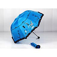 검은 젤 양산 태양 우산 크리 에이 티브 uv 보호 우산