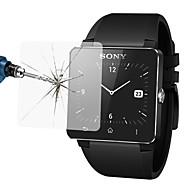 Недорогие Защитные пленки для смарт-часов-Защитная плёнка для экрана Назначение Sony SmartWatch 2 SW2 Закаленное стекло Уровень защиты 9H 1 ед.