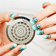 volle bloei ontwerp nail art stempel stempelen beeld sjabloon plaat nagels kunst decoratie nagel sjabloon