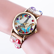 Недорогие Женские часы-Жен. Часы-браслет Модные часы Кварцевый / Повседневные часы Кожа Группа На каждый день Эйфелева башня Черный Белый Красный Коричневый