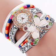 povoljno -Xu™ Dame ' Modni sat Ručni satovi s mehanizmom za navijanje Kvarc PU Grupa Vintage Leptiraste NeformalnoCrna Bijela Plava Crvena Pink