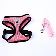 voordelige Accessoires voor huishouden & huisdieren-Hond harnassen Verstelbaar / Uitschuifbaar Zacht Met de hand gemaakt Effen Nylon Zwart Rood Blauw Roze