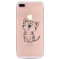 Назначение iPhone X iPhone 8 iPhone 7 iPhone 7 Plus iPhone 6 Чехлы панели С узором Задняя крышка Кейс для Кот Мягкий Термопластик для