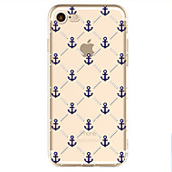 Недорогие Кейсы для iPhone 8 Plus-Кейс для Назначение Apple iPhone X iPhone 8 С узором Кейс на заднюю панель анкер Мягкий ТПУ для iPhone X iPhone 8 Pluss iPhone 8 iPhone 7