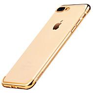 Para Funda iPhone 7 Funda iPhone 7 Plus Carcasa Funda Antigolpes Cromado Cubierta Trasera Funda Color sólido Suave TPU para AppleiPhone 7