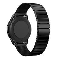 Недорогие Часы для Samsung-Ремешок для часов для Gear S3 Frontier Gear S3 Classic Samsung Galaxy Спортивный ремешок Нержавеющая сталь Повязка на запястье