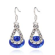 女性 ドロップイヤリング 合成ダイヤモンド 合成宝石類 純銀製 樹脂 合金 ジュエリー 用途 パーティー 日常 カジュアル