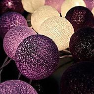 halpa LED-hehkulamput-fairy string lightshome koristelu fiestas lampgarland nauhat valaistus häät luminarias110 / 220v 20kpl puuvillapallo