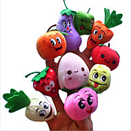 cheap Dolls & Stuffed Toys-Finger Puppets Stuffed Animals Plush Toy Stuffed Toy Toys Vegetables Fruit Novelty Plush Girls' Boys' Pieces