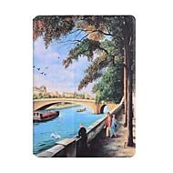 Χαμηλού Κόστους Θήκες/Καλύμματα για iPad-Για Θήκη καρτών Οριγκάμι tok Πλήρης κάλυψη tok Θέα της πόλης Σκληρή Συνθετικό δέρμα για Apple iPad Air 2 iPad Air