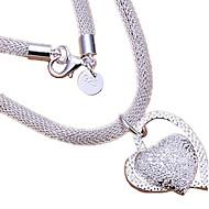 levne Šperky&Hodinky-Dámské Náhrdelníky s přívěšky - Stříbro Srdce, láska Pro nevěstu Stříbrná Náhrdelníky Šperky 1ks Pro Svatební, Párty, Výročí